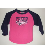 Toddler Girls Nike Pink Navy Blue Long Sleeve Top Size 3T - $3.95