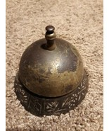 3 5/8 Antique Cast Iron Ring For Service Front Desk Counter Call Bell Ding - $39.55