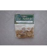 Wooden Craft Button Value Pack 24 Buttons Assor... - $1.99