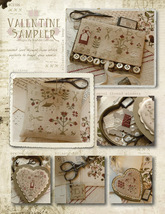 Valentine Sampler holiday cross stitch chart Country Stitches With Thy N... - $10.80