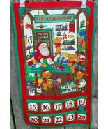 Beary Merry Christmas Santa's Workship 10 Day Advent Calendar Fabric Panel - $45.00