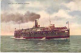 City of Benton Harbor Great Lakes Ship Vintage Post Card - $6.00
