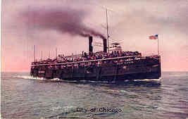 City of Chicago Great Lakes Passenger Ship Vintage Post Card - $6.00