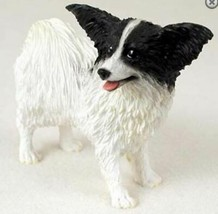 PAPILLON (BLACK) DOG Figurine Statue Hand Painted Resin Gift Pet Lovers - $19.99
