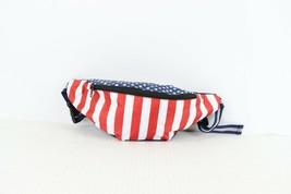 Vintage 90s USA Flag Print Adjustable Festival Fanny Pack Waist Bag Nylon - $34.60