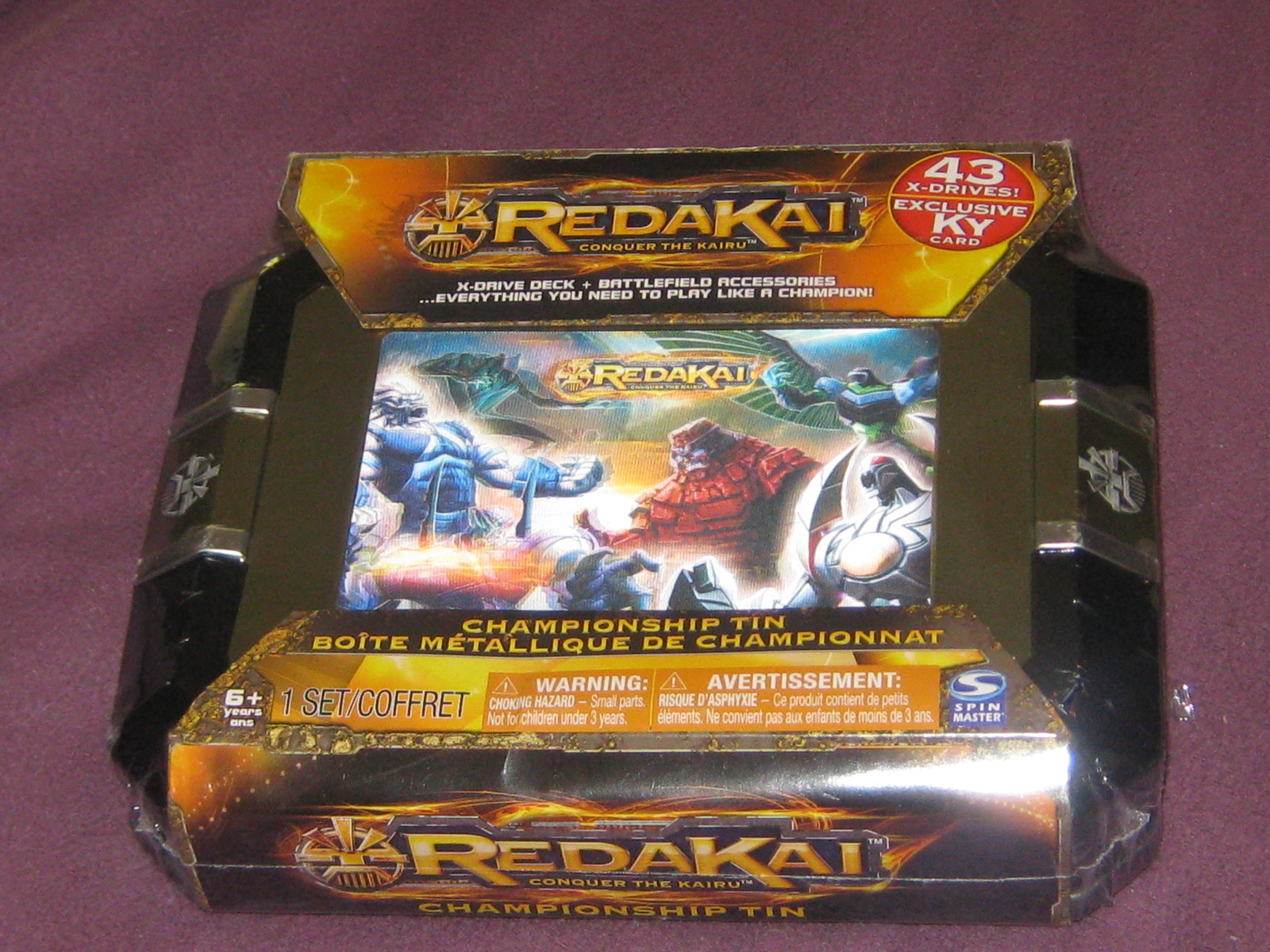 New Sealed Redaki Conquer the Kairu Championship Tin -game set