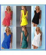 Casual Summer Beach Wear Swimsuit Cover Up Beach Tunic with Waist Drawst... - $39.95