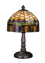 "Meyda Home Indoor Decorative 14""H Tiffany Candice Mini Lamp 1235-29485 - $190.89"