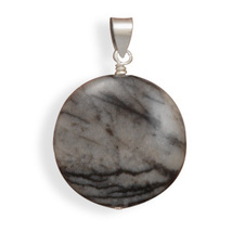 Black and White Jasper Pendant - €12,20 EUR