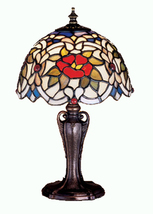 "Meyda Home Indoor Decorative 13""H Renaissance Rose Mini Lamp 1235-30313 - $179.55"