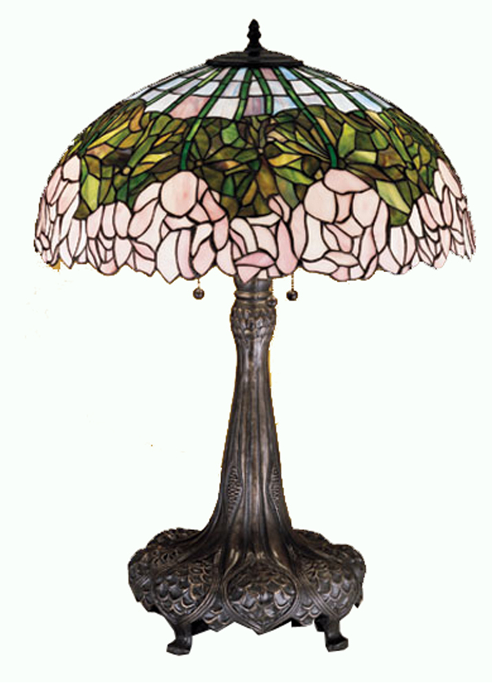 "Meyda Home Indoor Decorative 31""H Cabbage Rose Table Lamp 1235-30513"