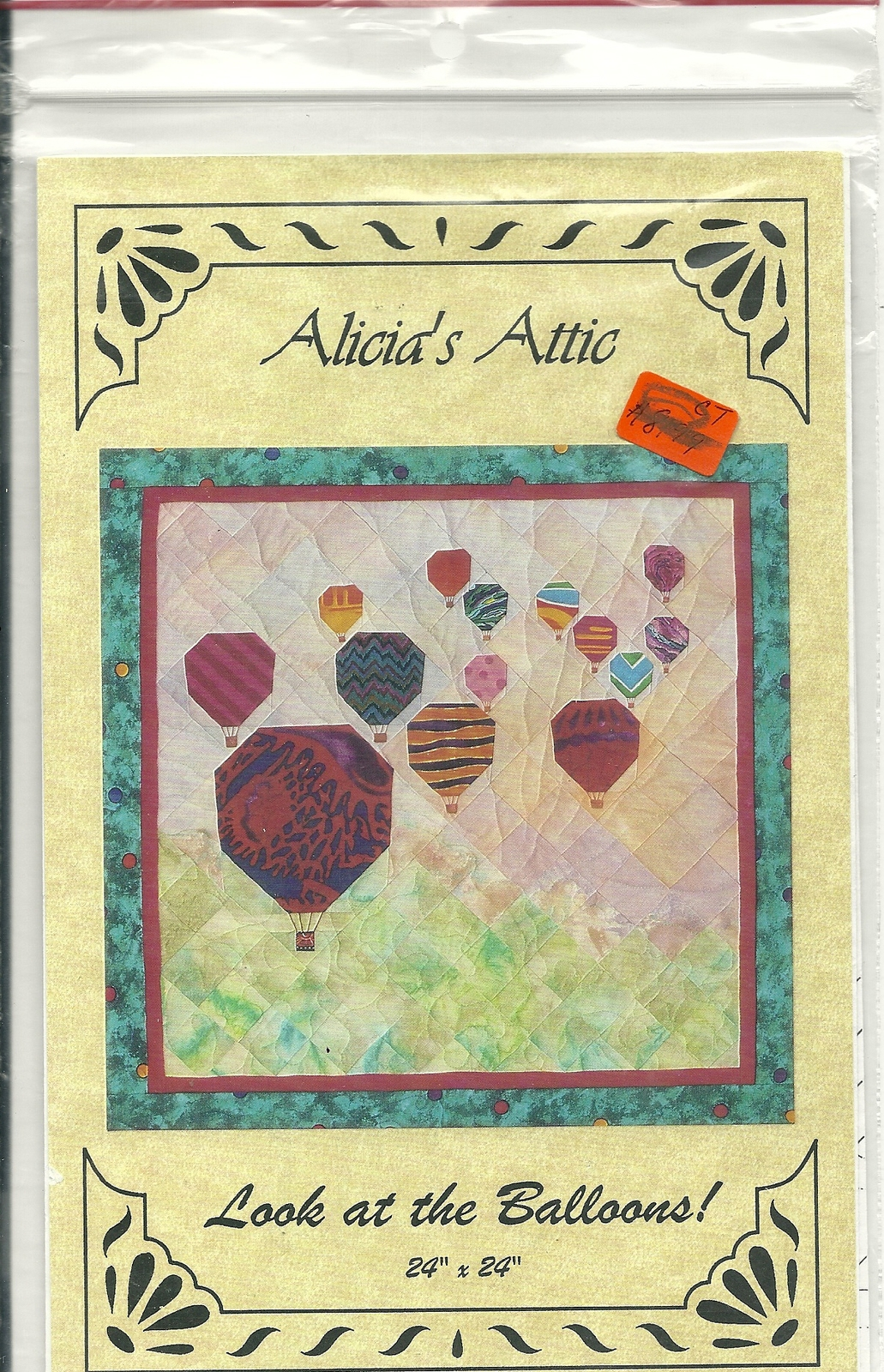 Alicia s attic   look at the balloons foundation pieced quilted wallhanging