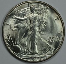 1944 S Walking Liberty silver half dollar BU details - $48.00
