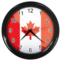 Canada Custom Black Wall Clock - $19.95