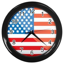 United States Custom Black Wall Clock - $19.95