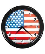 United States Custom Black Wall Clock - $19.95