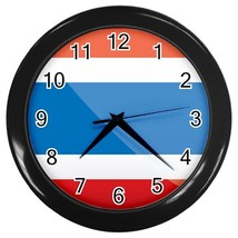 Costa Rica Custom Black Wall Clock - $19.95