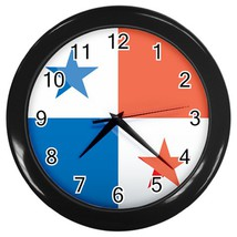 Panama Custom Black Wall Clock - $19.95