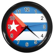 Cuba Custom Black Wall Clock - $19.95