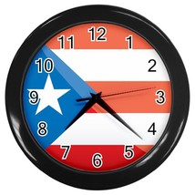 Puerto Rico Custom Black Wall Clock - $19.95