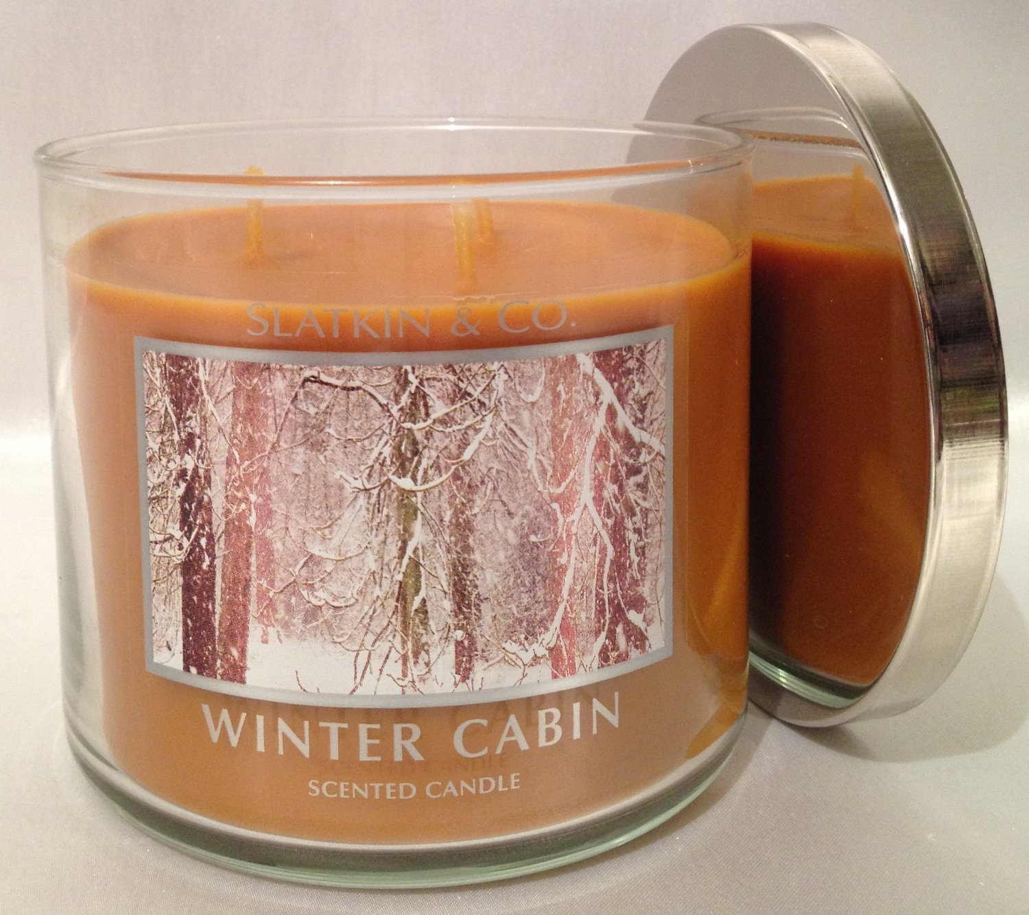 Winter cabin candle 1