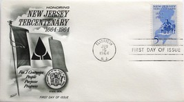 June 15, 1964 First Day of Issue, Fleetwood Cover, New Jersey Tecentenar... - $1.19