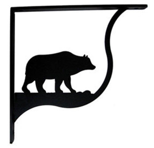"Primary image for Wall Shelf Bracket Pair Of 2 Bear Pattern Wrought Iron 9.25"" L Crafting Accent"