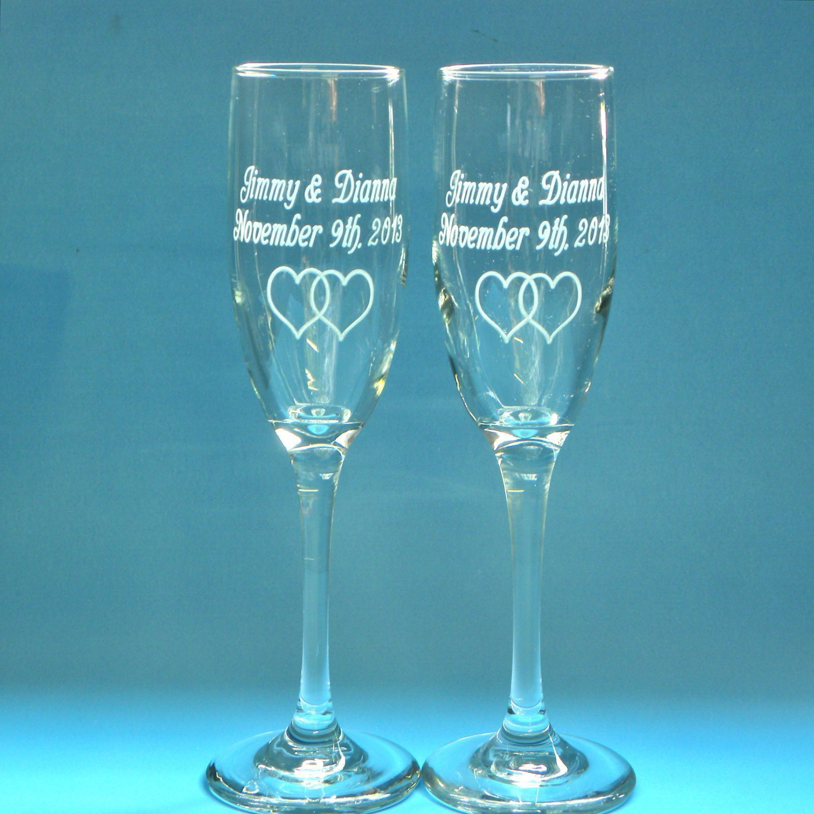 Wedding Gift Champagne Glasses : ... Wedding GlassesEngraved Champagne Wine Toasting FlutesGift