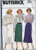 Butterick # 4123 Semi-fitted, Straight Skirt Women Misses Sewing Pattern - $13.23