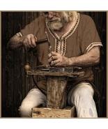Medieval Viking Norseman Voyagers Trimmed Brown Linen Short Sleeve Tuni... - $57.95