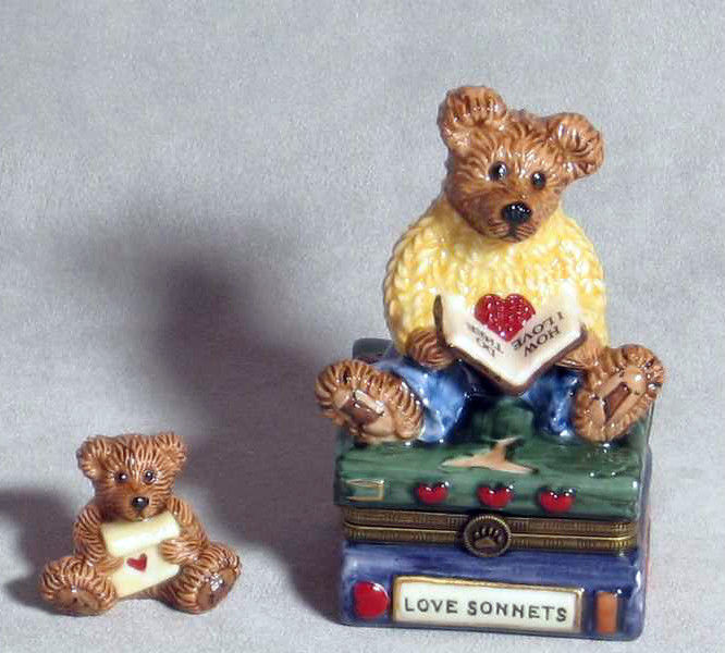 "Boyds Bears-LeBearmoge Porcelain Box ""Wilson .. with Love Sonnet"" #392007-2E-NIB"