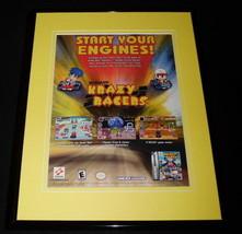 2001 Krazy Racers Game Boy Advance 11x14 Framed ORIGINAL Advertisement - $22.55