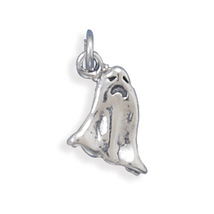 Sterling Silver Halloween Ghost Charm - $19.99
