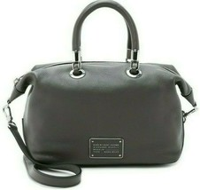 Marc Jacobs Too Hot To Handle Italian Leather Grey Top Zip Satchel Bag Purse*Nwt - $298.00
