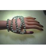Vintage 14k Solid Yellow Gold Jadeite Jade Necklace & Bracelet Set - $500.00