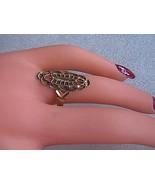 Vintage 10k Yellow Gold Diamond Cut Filigree Ring - $150.00