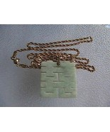 Vintage 14k Solid Yellow Gold Diamond Cut  Rope Chain Jade Necklace 19.9... - $750.00
