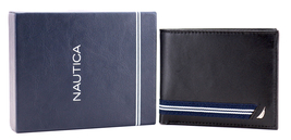 Nautica Men's Genuine Leather Credit Card ID Double Billfold Passcase Wallet image 10
