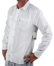 NEW NWT LEVI'S MEN'S CLASSIC LONG SLEEVE BUTTON UP SHIRT WHITE 3LDLW0921 image 2