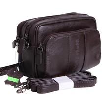 guarantee genuine leather small messenger bags for men mini shoulder bag... - $55.71