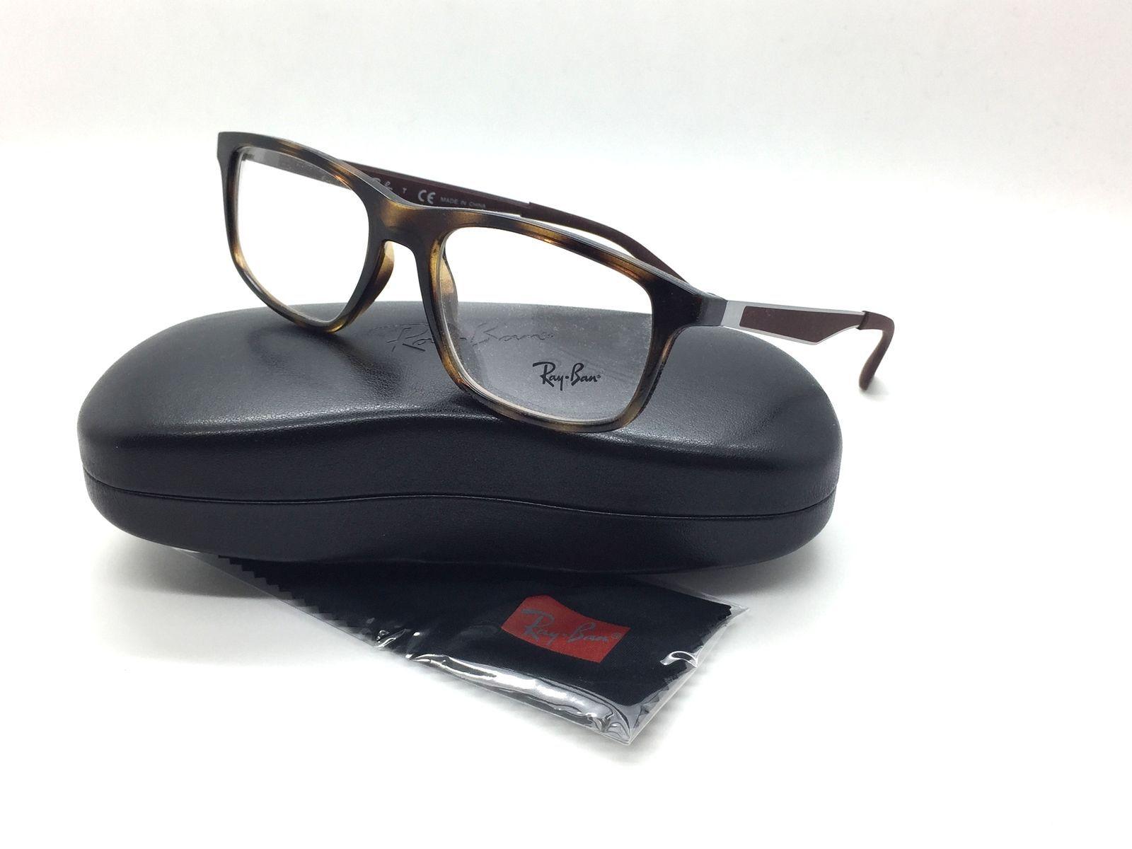 674c486470 S l1600. S l1600. Ray Ban Unisex Tortoise Square New Eyeglasses RB 7055  2012 53 Plastic. Free Shipping
