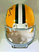 BART STARR / NFL HOF / AUTOGRAPHED GREEN BAY PACKERS LOGO MINI HELMET / STEINER image 3