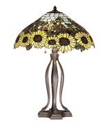 "Meyda Home Indoor Decor 30""H Wild Sunflower 3Lt Table Lamp Bronze - 1235... - $1,116.99"