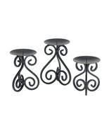 Koehler Home Kitchen Gift Scrollwork Candle Holders Stand Trio 1066-1001... - $45.51