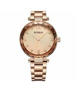 Women Watch Fashion Female Rose Gold Quartz Wristwatch Push Button Hidde... - $968,42 MXN