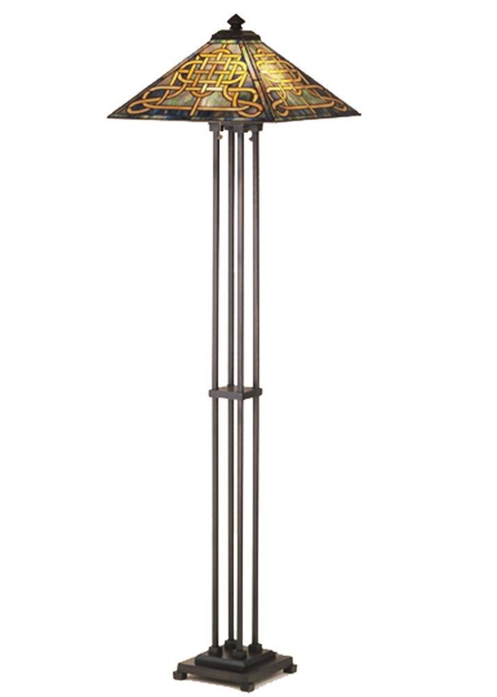"Meyda Home Indoor Decorative 63""H Knotwork Mission Floor Lamp - 1235-48023"