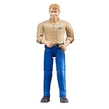 Bruder 60006 bworld Man with Light Skin/Blue Jeans Toy Figure image 1