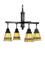"Meyda Home Indoor Decorative 26""W Martini Mission 4 Lt Chandelier - 1235... - $772.20"