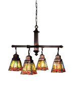 "Meyda Home Indoor 26""W Prairie Dragonfly 4 Lt Chandelier Orange - 1235-4... - $851.40"