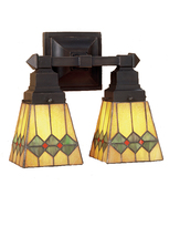 "Meyda Home Indoor 12""W Martini Mission 2 Lt Wall Sconce Orange - 1235-48190 - $246.60"